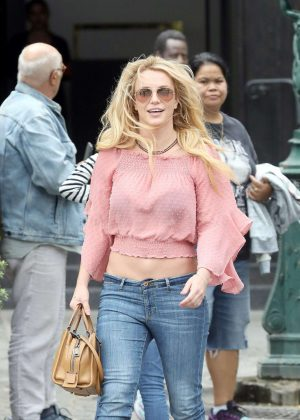 Britney Spears - Out and about in Paris