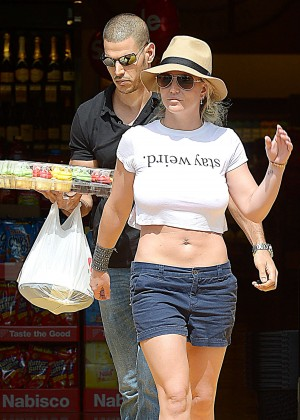 Britney Spears in Shorts out in Westlake Village