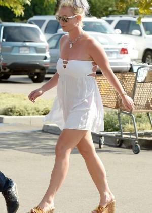 Britney Spears in Short Dress -03