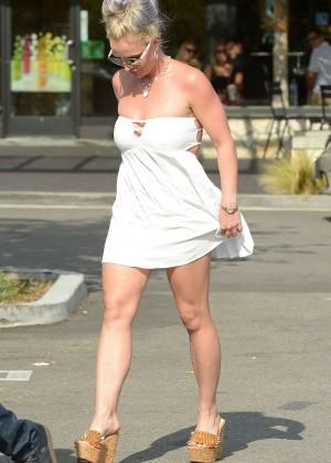 Britney Spears in Short Dress -07