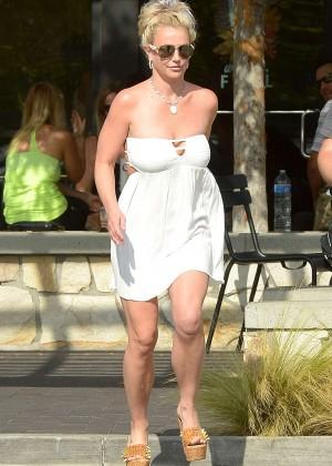 Britney Spears in Short Dress -08