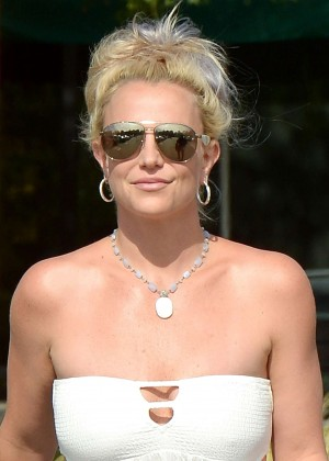 Britney Spears in Short Dress -09