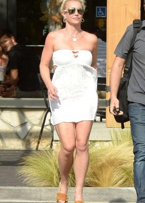 Britney Spears in Short Dress -10
