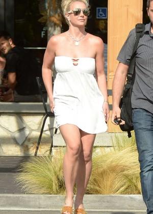 Britney Spears in Short Dress -11