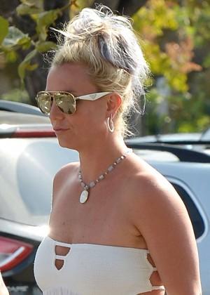 Britney Spears in Short Dress -12