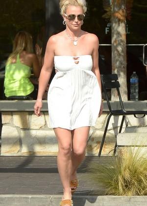 Britney Spears in Short Dress -13