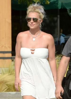 Britney Spears in Short Dress -14