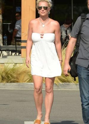 Britney Spears in Short Dress -15