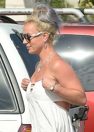 Britney Spears in Short Dress -16