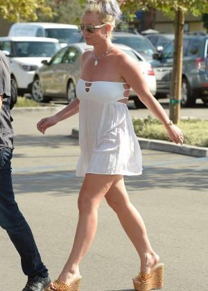 Britney Spears in Short Dress -17
