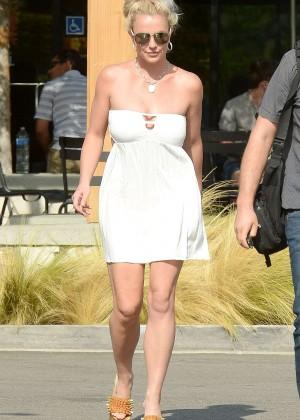 Britney Spears in Short Dress -19