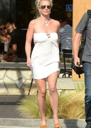 Britney Spears in Short Dress -20