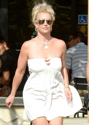 Britney Spears in Short Dress -23