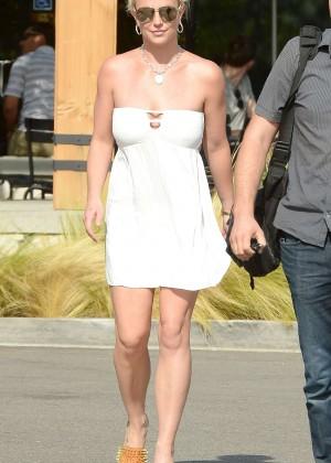 Britney Spears in Short Dress -24