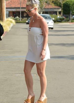 Britney Spears in Short Dress -25
