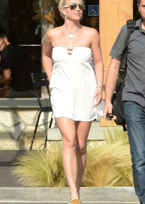 Britney Spears in Short Dress -26