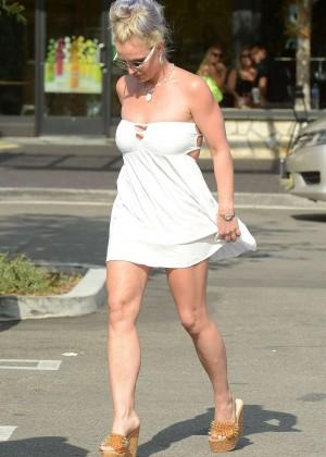 Britney Spears in Short Dress -29