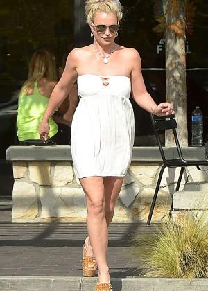 Britney Spears in Short Dress -36