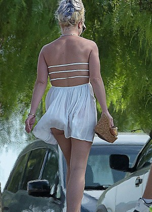 Britney Spears in Short Dress Out in Los Angeles