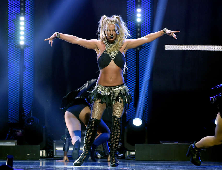 Britney Spears: Performs at 2016 iHeartRadio Music ... Britney Spears Vegas