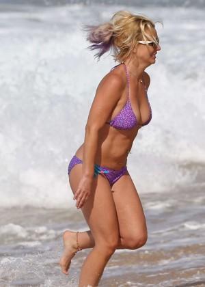 Britney Spears in Purple Bikini -05