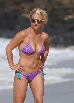 Britney Spears in Purple Bikini -07