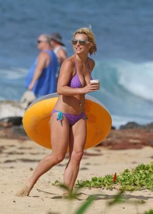 Britney Spears in Purple Bikini -08
