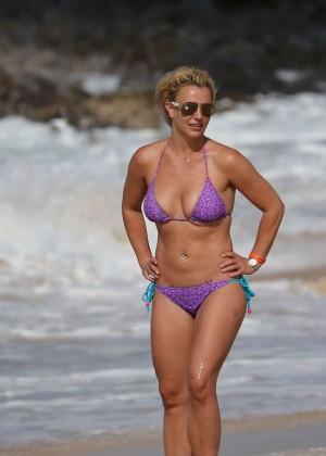 Britney Spears in Purple Bikini -09