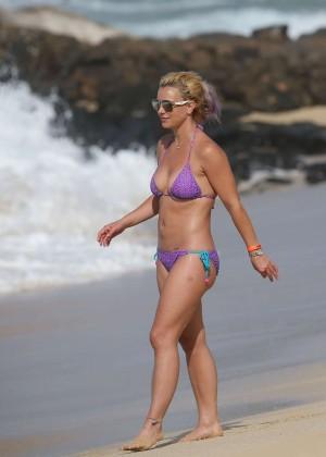 Britney Spears in Purple Bikini -10