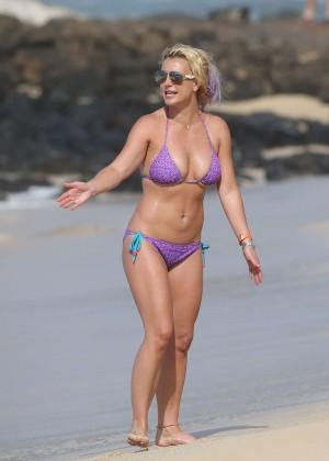 Britney Spears in Purple Bikini -11