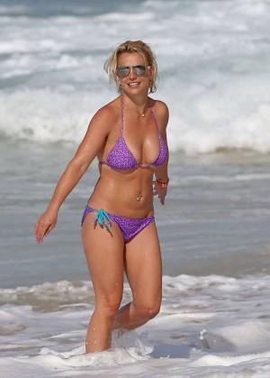 Britney Spears in Purple Bikini -12