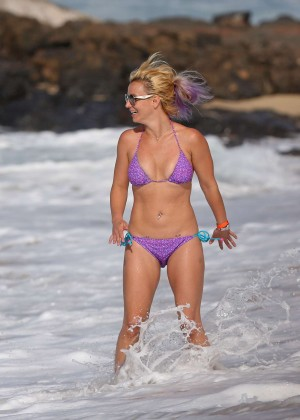 Britney Spears in Purple Bikini -15