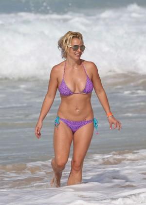 Britney Spears in Purple Bikini -16