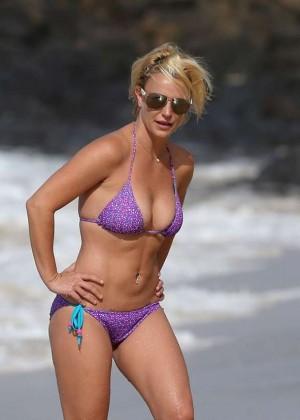 Britney Spears in Purple Bikini -17