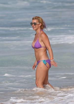 Britney Spears in Purple Bikini -18