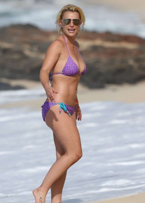 Britney Spears in Purple Bikini -19