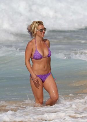 Britney Spears in Purple Bikini -21