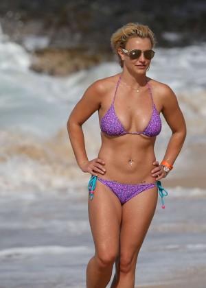 Britney Spears in Purple Bikini -22