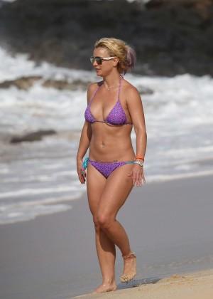 Britney Spears in Purple Bikini -24