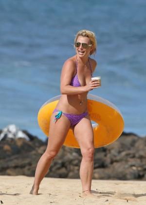 Britney Spears in Purple Bikini -25