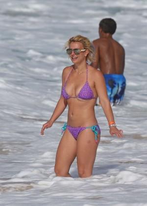 Britney Spears in Purple Bikini -26