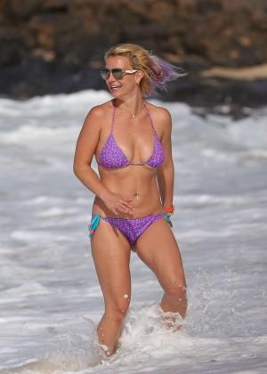 Britney Spears in Purple Bikini -28
