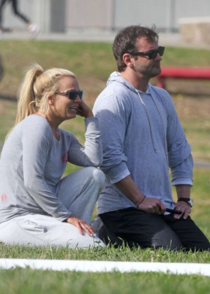Britney Spears with her brother Bryan at the park in LA