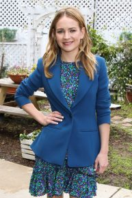 Britt Robertson at Hallmark's 'Home & Family' in Universal City