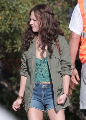 Britt Robertson - Filming 'Girlboss' in Los Angeles
