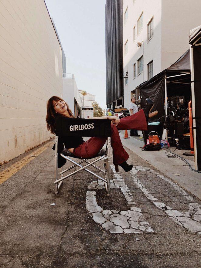 Britt Robertson - On the set 'Girlboss' in Beverly Hills