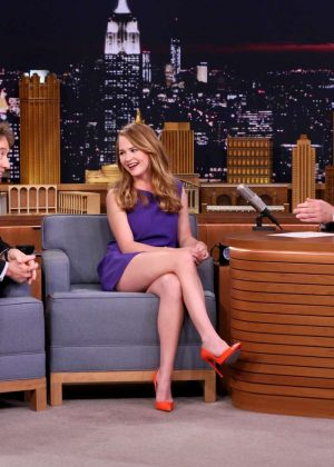 Britt Robertson on 'The Tonight Show Starring Jimmy Fallon' in NY