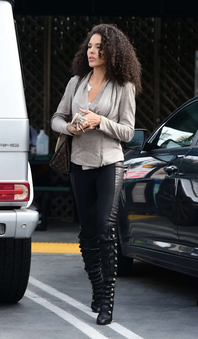 Brittany Bell in Black Pants - Out in Los Angeles