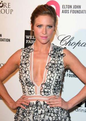 Brittany Snow - Oscars 2015 - Elton John AIDS Foundation Academy Awards Party