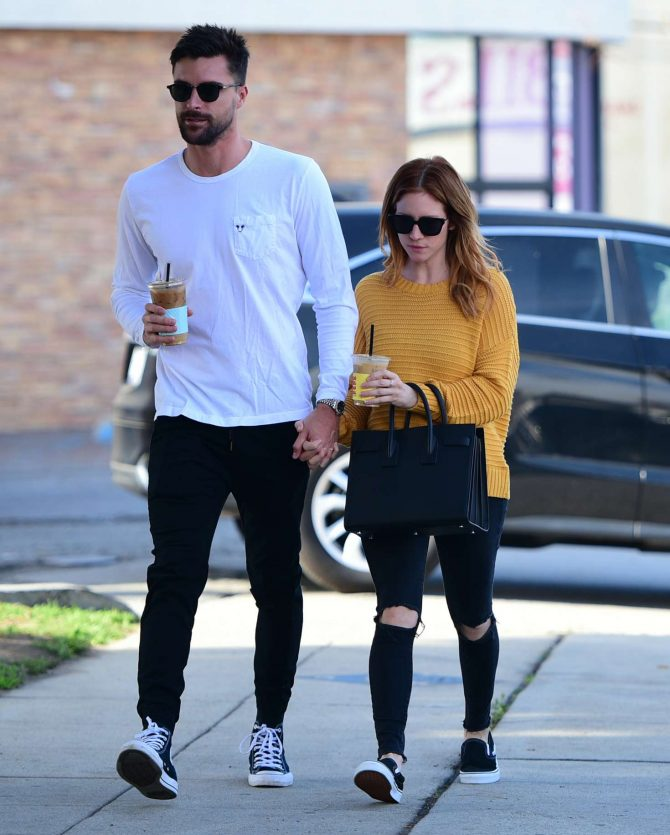 Brittany Snow and Boyfriend Tyler Stanaland – Out in Los Angeles
